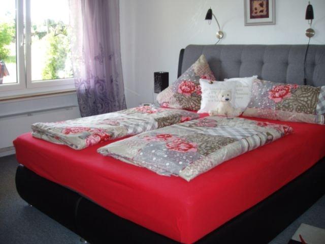 Fewo Schlafzimmer - nochmals Ansicht Doppelbett