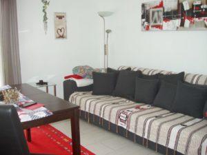 Wohnzimmer mit Couch in der Fewo-Braunlage
