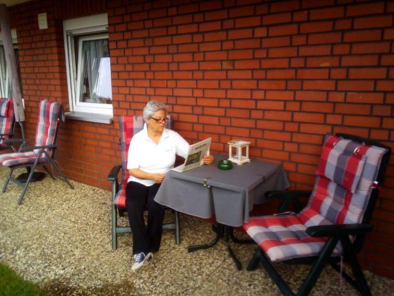 lesen auf der terrasse fewo braunlage
